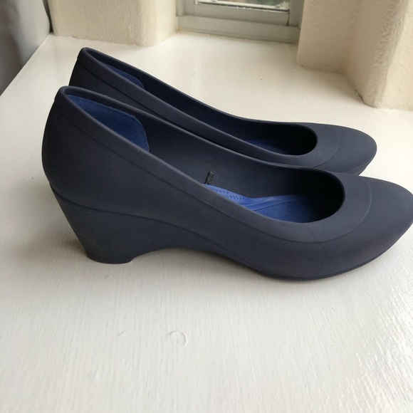 fc48531675 CROCS Shoes | Womens Lina Wedges Navy Heel | Poshmark